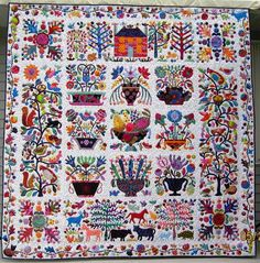 Bizzy Bird Farm (aka Roseville Album) by Julee Prose at Glorious Applique