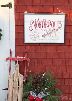 North Pole Trading Company FREE Christmas Silhouette Cut File