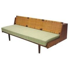 Daybed by Hans Wegner for GETAMA circa 1960 Made in Denmark | From a unique collection of antique and modern day beds at https://www.1stdibs.com/furniture/seating/day-beds/