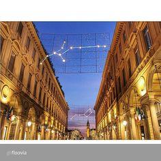 """#Torino raccontata dai cittadini per #inTO  Foto di floovia """"#tramonto su Via Roma e Piazza San Carlo! // Day7⃣ e ultimo! Grazie a @cittaditorino per l'esperienza, è stato divertente! ☺️"""