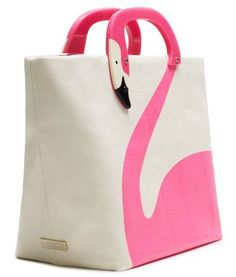 hot pink flamingo bag