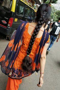 Desi Girl Image, Girls Image, Indian Long Hair Braid, Long Black Hair, Beautiful Girl Indian, Beautiful Braids, Braids For Long Hair, Dress Formal, India Beauty