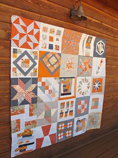 Moma needs this one. @Patti Lou Heath 3X6 bee quilt top by sewtakeahike, via Flickr