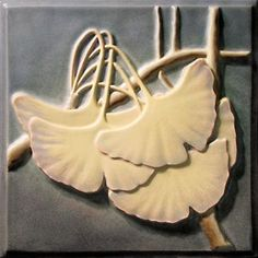 Gingko Tile / I would love to do gingkos in polymer