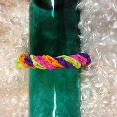 twister rubber band bracelet on Etsy, $3.50