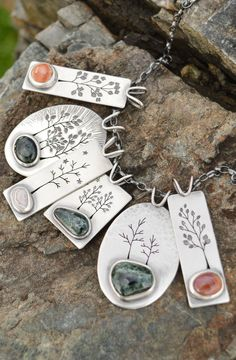 Jewelry Making Locally sourced Lake Superior Stone. They rock! Metal Clay Jewelry, Copper Jewelry, Glass Jewelry, Stone Jewelry, Wire Jewelry, Pendant Jewelry, Jewelry Crafts, Jewelry Art, Jewelry Design
