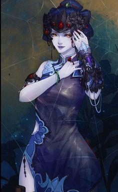 Fatale Overwatch, Overwatch Widowmaker, Overwatch Comic, Overwatch Fan Art, Anime Art Fantasy, Fantasy Artwork, Pretty Art, Cute Art, Game Character