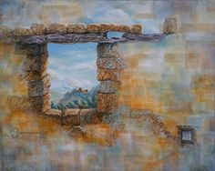 """Crenulated by Carol McIntyre Oil ~ 24 x 30-Contemporary Abstract Landscape Painting """"CRENULATED"""" by Contemporary Realism Artist Carol A. McIntyre-http://carolamcintyre.com/workszoom/719207"""