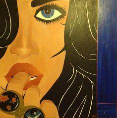 """'Rings' 48""""x48"""" Acrylic on panel."""
