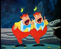 alice in wonderland disney characters tweedledum and tweedledee - Google Search