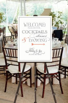 Printable Vintage Wedding Welcome Sign -- Calligraphy Script -- pompdesigns