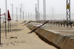 Obras del tren rápido La Meca-Medina, el AVE del desierto, en Arabia Saudí.