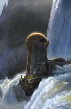 A Shinarian Star-Observatory located in Sidoia, protected from looters by a waterfall.