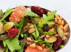 Recipe: Emmer Farro, Grapefruit and Pumpkin Seed Salad. A simple and gorgeous salad that instantly brings sunshine to your wintery table.