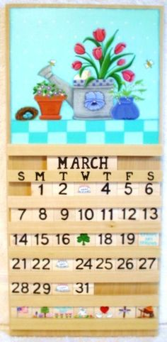 wooden calendars | Perpetual calendar handmade wooden home decor perpetual calendar