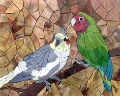 Birds ready to grout | Mosaic