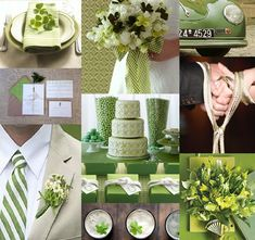 beautiful white and green weddings   Questions? Email me anytime - thebrightoccasions@gmail.com – www ...