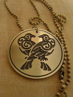 Odins Ravens Necklace Viking talisman by NorthernDragonCrafts