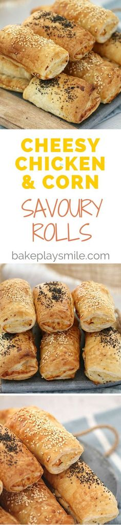 Cheesy Chicken & Corn Savoury Rolls - Conventional Method