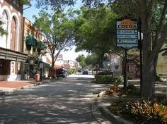 Charming downtown Vero Beach, Florida. Lots of art galleries and restaurants.