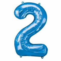 Use a Giant Blue Number 2 Balloon to display an age, anniversary, or year! This foil Giant Blue Number 2 Balloon is great for a custom balloon display at your event or party. Large Number Balloons, One Balloon, Black Balloons, Party City Balloons, Helium Balloons, Foil Balloons, Balloon Party
