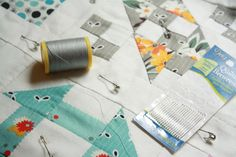 Why Not Sew?: Hand Pieced Quilt-A-Long ~ Hand Quilting. Also links to the 12 blocks in her quilt.