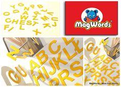 ABC.. Uczę Się ! --> Komplet Literek Magnetycznych w MagWords - More than Words na DaWanda.com