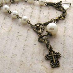 Vintage Rosary Bracelet Chapelet.