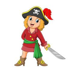 Pretty pirate girl holding sword vector Free Vector Images, Vector Free, Border Design, Sword, Pirates, Crafts For Kids, Colorful, Pretty, Artist
