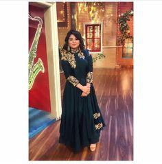 Indian Wedding Gowns, Party Wear Indian Dresses, Dress Indian Style, Indian Attire, Indian Outfits, Fancy Dress Material, Zaira Wasim, Kalamkari Dresses, Girls Dresses Sewing