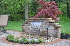 A beautiful water feature we built to create a soothing atmosphere in a clients backyard.