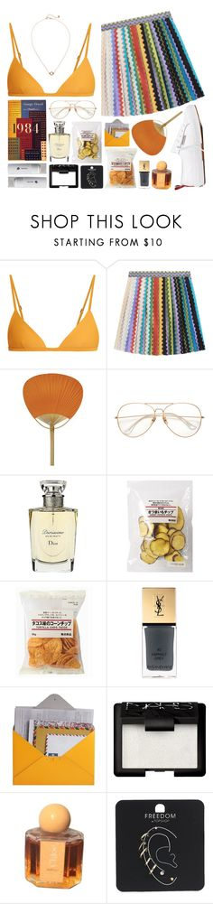 """MARCH 29"" by mariimontero ❤ liked on Polyvore featuring Matteau, Missoni, Superga, MANGO, Christian Dior, Muji, Yves Saint Laurent, Design 55, NARS Cosmetics and Topshop"