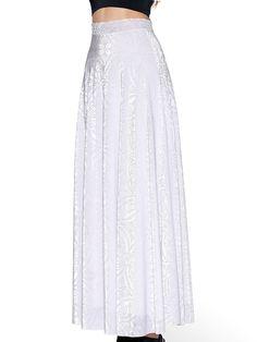 Burned Velvet White Maxi Skirt - LIMITED (AU $99AUD / US $80USD) by Black Milk Clothing