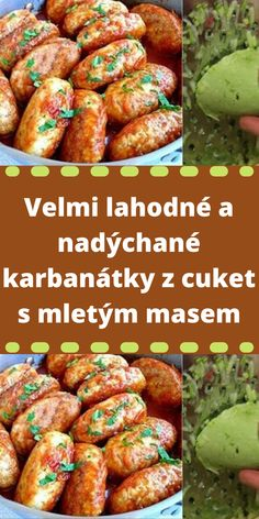 Easy Homemade Recipes, Healthy Recipes, Food 52, Lchf, Starters, Chicken Wings, A Table, Zucchini, Sausage