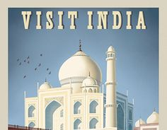 """Check out new work on my @Behance portfolio: """"Visit India Travel Poster"""" http://be.net/gallery/38698607/Visit-India-Travel-Poster"""