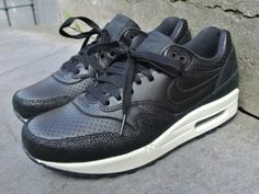 "705007-001 Nike Air Max 1 Leather PA ""Stingray Pack"" Black/Black-Black-Sea Glass"