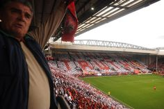 """The Truth"" displayed at The Kop end of Anfield to commemorate Hillsbrough 96 disaster"