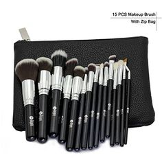 ce1a890aa2 15 Pcs Professional Makeup Brushes Set Power Foundation EyeShadow Blush  Blending Make Up Beauty Cosmetic Tools Kits Hot