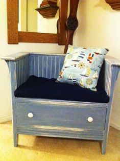 Upcycling my son's broken dresser to this chair :)