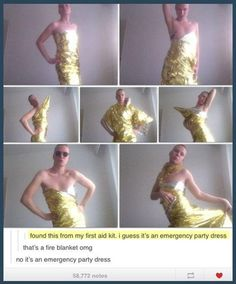 Funny pictures about Emergency party dress. Oh, and cool pics about Emergency party dress. Also, Emergency party dress. I Love To Laugh, Make Me Smile, Funny Cute, The Funny, Super Funny, Lgbt, Look At You, Tumblr Funny, Funny Memes