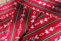 Guatemalan Ikat in Really Red by Spanglishfabrics on Etsy, $15.00