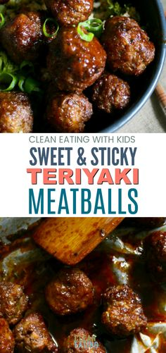 Sticky Teriyaki Meatballs with Broccoli Fried Rice OMG! These are Amazing. Clean Eating Sweet and Sticky Teriyaki Meatballs with Broccoli Fried RiceOMG! These are Amazing. Clean Eating Sweet and Sticky Teriyaki Meatballs with Broccoli Fried Rice Clean Dinners, Clean Eating Recipes For Dinner, Clean Recipes, Healthy Dinner Recipes, Beef Recipes, Real Food Recipes, Cooking Recipes, Clean Foods, Eating Clean