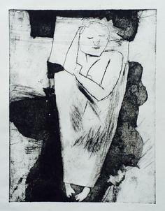 "Linn Sundqvist ""Sleeping (ii)"" Monoprint on paper"