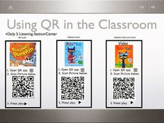 Teaching Science With Lynda: QR Codes in The Classroom Teaching Technology, Teaching Science, Educational Technology, Teaching Tips, Elementary Science, Digital Technology, Listening Station, Listening Centers, Literacy Centers