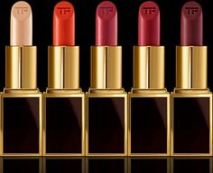 Tom Ford Beauty Lips & Boys Collection for Black Friday 2014 - 50 miniature-sized, limited edition lipsticks will be released for one day only, November 28th at 12:01am on tomford.com. They'll make a reappearance in select stores on December 26, 2014. Each lipstick retails for $32.00. (Check out WWD's interview with Tom Ford on the upcoming launch.) Each lip color is designed by a man who has inspired the designer.