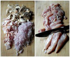 Κοτόπουλο με μανιτάρια και πατάτες Garlic, Recipies, Stuffed Mushrooms, Vegetables, Food, Recipes, Stuff Mushrooms, Veggies, Eten