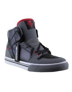 dc0cd0a91a64 Supra Kids Vaider Shoes   black grey white