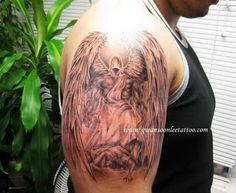 28 Best Half Angel Half Demon Tattoo Images Devil Tattoo Half