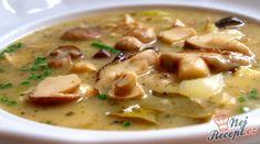 Byla jsem v lese na procházce a našla jsem pár krásných kousků, tak jsem je hned zpracovala. Udělala jsem mou oblíbenou polévku, houbovou bramboračku, která mi doslova vytváří nebíčko v tlamičce. Někdo přidává více brambor než hub, já spíše naopak, více hub jako brambor, aby to bylo pořádně houbové. Autor: Naďa I. (Rebeka) Soup Recipes, Cooking Recipes, National Dish, Czech Recipes, Eat Pray Love, Tzatziki, Soups And Stews, Cheeseburger Chowder, Food To Make