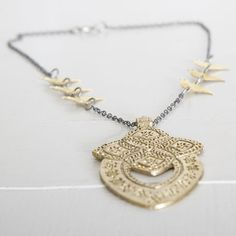 Boho Chic necklace/ Tibetan Pendant/ Statement by OwnStudiobyEfrat